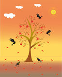Tree and bird Royalty Free Stock Images