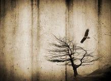 Tree and Bird Background Stock Photo