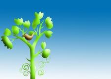 Tree and bird illustration Stock Photo