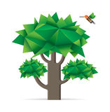 Tree with bird. Royalty Free Stock Images