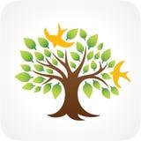 Tree and birdies [Vector] Stock Photos