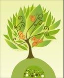 Tree with birds. Vector illustration Royalty Free Stock Photos