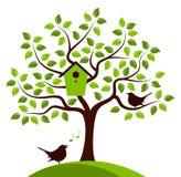 Tree and birds Royalty Free Stock Photos