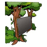 Tree & blackboard Royalty Free Stock Photos