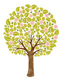 Tree in bloom stock illustration