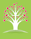 Tree blossoming hearts. Royalty Free Stock Images