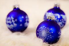 Tree blue christmas glass bulb Stock Image