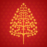 Tree bodhi leaf. Illustrations and background Royalty Free Stock Image
