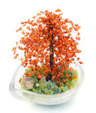 Tree of Bonsaj from beads Stock Photos
