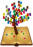 Tree book. Illustration of ancient book with tree Stock Photography