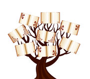 Tree with the books Stock Image