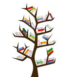 tree and books Royalty Free Stock Photography