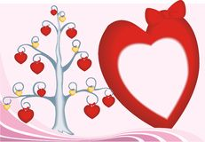 Tree border heart Stock Photo