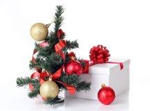 Tree and box Royalty Free Stock Image