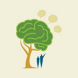 Tree Brain - Illustration with bubbles Royalty Free Stock Images