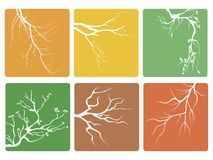 Tree branch buttons icons vector Royalty Free Stock Photography