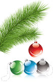Tree branch and Christmas decoration Stock Photo