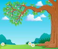 Tree branch in spring theme image. Vector illustration Royalty Free Stock Photography