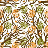 Tree branches vector seamless pattern Stock Photo