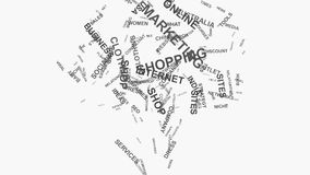 Tree Brand marketing strategies online business word cloud text typography. Tree Online Brand Business Marketing Strategies and Internet Shopping consumer stock footage