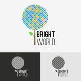 Tree bright logo concept. Tree bright vector design represents friendly logo concept vector illustration