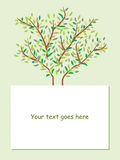 Tree brochure background Royalty Free Stock Images