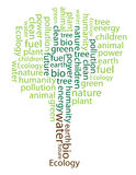 Tree build by words Royalty Free Stock Photos