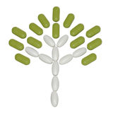 Tree built of tablets Stock Images