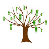 Ecologic Tree with Bulbs Fruits Royalty Free Stock Image
