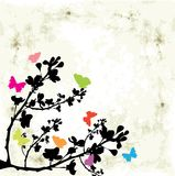 Tree and butterfly Royalty Free Stock Image