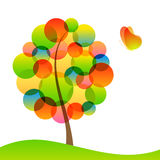 Tree and butterfly. Coloful Tree and butterfly with transparency effects Royalty Free Stock Image