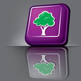 tree button Royalty Free Stock Images