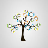 Tree of cameras Royalty Free Stock Images
