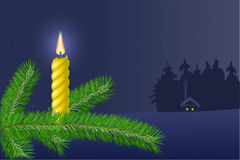 A  tree  with a candle Royalty Free Stock Photography