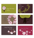 Tree cards design Royalty Free Stock Images