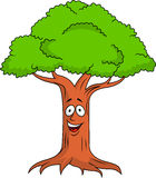 Tree cartoon character Royalty Free Stock Image
