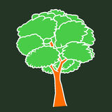 Tree cartoon. Is green drawing Stock Images