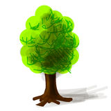 Tree cartoon icon vector illustration Stock Photography