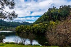 Ceira river, Penacova, Portugal Stock Photos