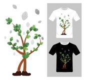 Tree character concept - vector . T-shirt graphic design. Tree character concept - vector illustration. T-shirt graphic design Stock Image