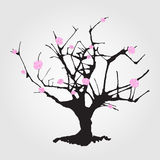 Tree in Chinese style. Royalty Free Stock Photography