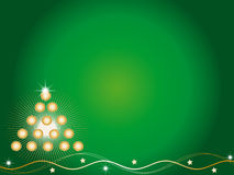 Tree christmas. In green background Royalty Free Stock Photos