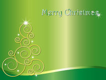 Tree christmas. In green background Royalty Free Stock Images
