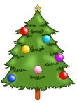 Tree of Christmas. Digital illustration of a colored tree of Christmas Stock Image
