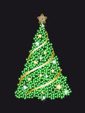 Tree Christmas. Black Background with tree christmas Stock Images