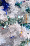Tree, christmas balls and tinsel Stock Photo