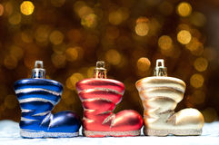 Tree Christmas boots Royalty Free Stock Image