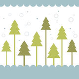 Tree of christmas card Stock Images