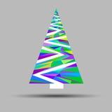 Tree christmas decoration celebration vector design winter symbo Royalty Free Stock Photo
