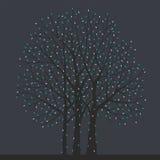 Tree with Christmas light bulbs Stock Photography
